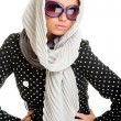 Stock Photo: Glamor womin headscarf