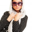 Stock Photo: Graceful model in headscarf