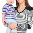 Smiley mother with son — Stock Photo