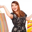 Happy woman with bright shopping bags — Stock Photo #5181913