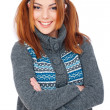Portrait of cheerful young woman - Stock Photo