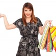Pretty woman with shopping bags — Stock Photo #5181983