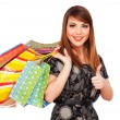 Royalty-Free Stock Photo: Woman holding shopping bags