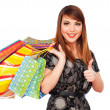 Woman holding shopping bags — Stock Photo #5182029
