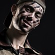 Smiley young soldier — Stock Photo
