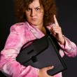 Funny businesswoman — Stock Photo