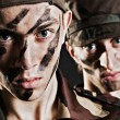 Two soldiers — Stockfoto