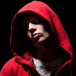 Cool b-boy in red jacket — Stock Photo