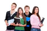 Veselá studenti — Stock fotografie