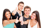 Smiley jungen daumen auftauchend — Stockfoto