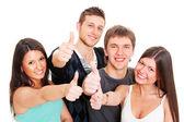 Smiley jonge duimen opdagen — Stockfoto