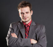 Portrait of handsome successful businessman — Stock Photo