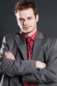 Porträt von vertrauenswürdigen kaufmann — Stockfoto