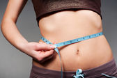 Woman measurement from her waist — Stock Photo