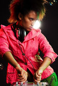 Stylish deejay — Stock Photo
