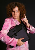 Komik iş kadını — Stok fotoğraf