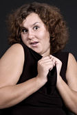 Woman gaping in astonishment — Stock Photo
