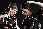 Military rivals — Stock Photo
