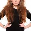 Beautiful young woman with long hair — Stock Photo