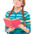 Pretty woman with book — Stock Photo
