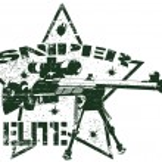 Sniper elite stamp — Stock Vector