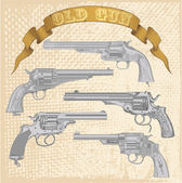 Old gun set — Stock Vector