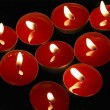 Red candles — Stock Photo