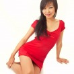 Beautiful asian girl isolated on white — Stock Photo