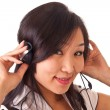 Asian girl with headset 2 — Stock Photo