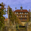 Stock Photo: Esslinger Burg und Weinberge