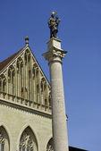 Münster Konstanz mit Mariensäule — Zdjęcie stockowe