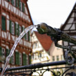 Wasserstrahl, Stadtbrunnen - Stock Photo