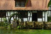 Wasserrad, Blautopf, Blaubeuren — Stock Photo