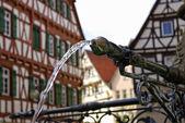 Wasserstrahl, Stadtbrunnen — Stock Photo