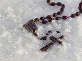 Iced Rosary — Stock Photo