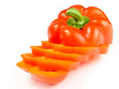 Cut Red Pepper — Stockfoto