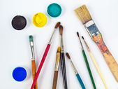 Art Equipment and Watercolours — Stock Photo