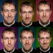 Set of man portraits.  Manycolored. - Stock Photo