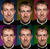 Set of man portraits. Manycolored. — Stock Photo