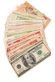Banknotes of different countries. — Stock Photo