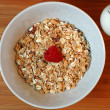 Granola With Fresh Raspberry - Stock Photo