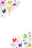 Kompozycja kadru balony — Zdjęcie stockowe