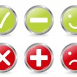 Buttons Of Validation Icons - Stock Vector