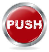 Push Button — Stock Vector