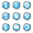 Royalty-Free Stock Imagen vectorial: Set Service Buttons