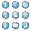 Stock Vector: Set Service Buttons