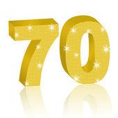 Golden Number Seventy — Stock Vector