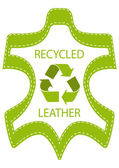 Recycle Leather Lable — Stock Vector