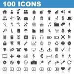 100 web iconen — Vector de stock