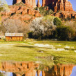 Cathedral Rock near Sedona, Arizona. - Stock Photo